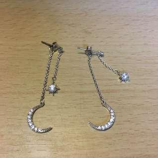 韓國月亮耳環
