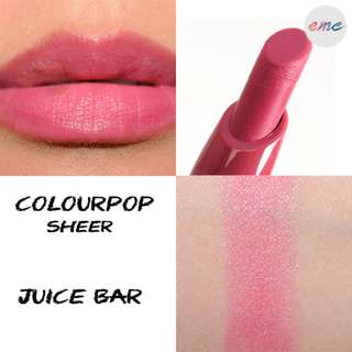 BN Colourpop Lippiestix Juice Bar - Sheer