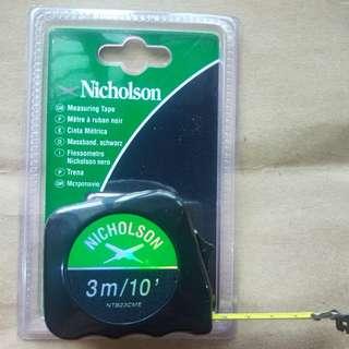 Nicholson Tape Measure 3M/10FT