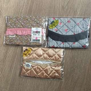 全新紙巾套3個