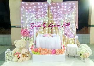 Baby Shower Deco / Mini Pelamin / Dais / Backdrop / Wedding Decoration
