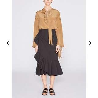 Lee Mathews Black wrap skirt size 1 (or 8)