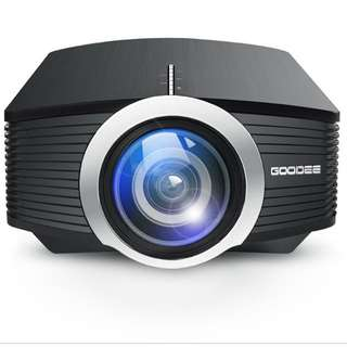 "Projector 1800 lumens, upto 170"" supports 1080"