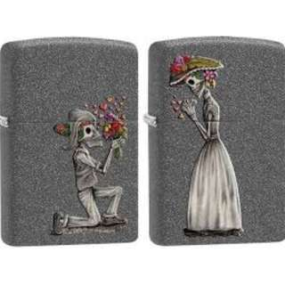 "Valentine's Day Special - ""Well You Married Me"" Skeleton love 2 piece set iron stone 28987"