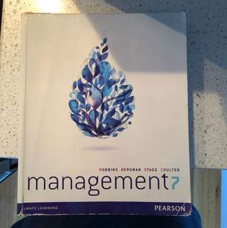 Management 7 textbook by Pearson