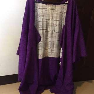 紫色日本和服