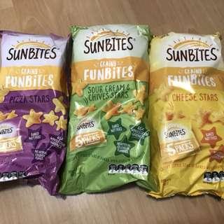 SUNBITES Grainy Funbites 健康穀物星星餅