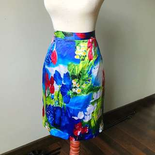 Abstract Floral Skirt