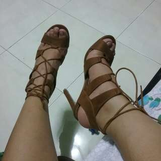 GiBi Collection Strappy Gladiator Heels lace up
