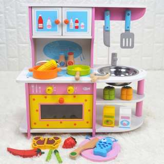 (PO)🌟FREE GIFT🌟BN Wooden Small Kitchen Play Set