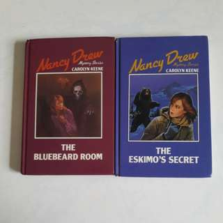 Nancy drew mystery series- the bluebeard room and the eskimo's secret