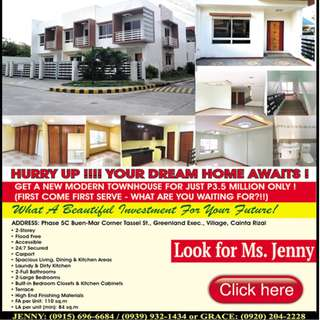 GET A NEW MODERN TOWNHOUSE FOR JUST P3.5 MILLION ONLY