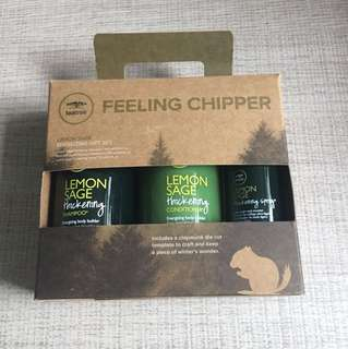 Lemon sage energizing gift set