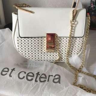 Et cetera sling bag white