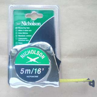 Nicholson Tape Measure 5M/16ft Chrome