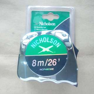 Nicholson Tape Measure 8M/26ft