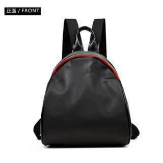 🚚 woman bag + gift 【現貨速寄】*送贈品* 女牛津雙肩包批發彩條拉鍊多用背包爆款範冰冰同款雙肩包 - CDBP0001