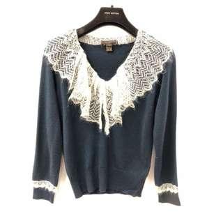 LV Louis Vuitton cashmere top blouse size M