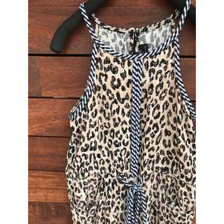 Bardot Junior Girls Leopard Jumpsuit Size 7