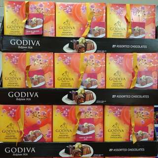現貨!!Godiva新年禮盒27粒裝