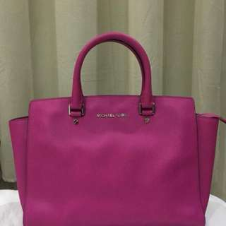 Michael Kors Selma Large Saffiano Leather Satchel Bag