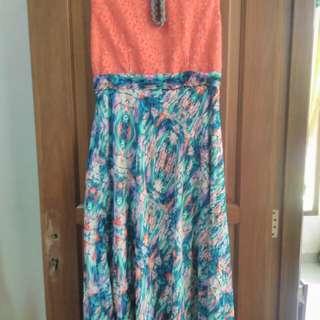 Reprice!! Dress brukat/ dress pesta/ baju gamis