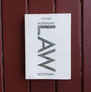 Oxford Australian Law dictionary