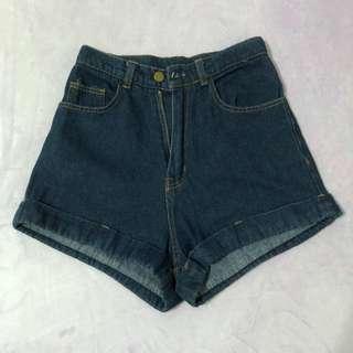 🚚 復古高腰牛仔短褲