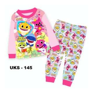 Baby Shark Long Sleeve Pyjamas For (2 Yrs To 7 Yrs)