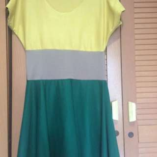 REPRICE...!!! colours dress, no brand, size S to M