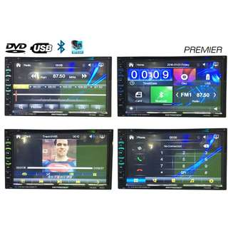 HD Double Din Car DVD USB MP4 MP3 TV 2-Din Player