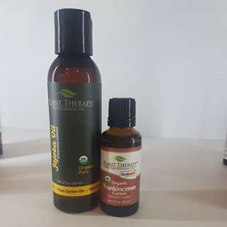 ORGANIC FRANKINCENSE ESSENTIAL OIL AND JOJOBA OIL SET OF 2