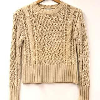 Acne beige knitted top size XS