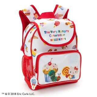 Japan Sanrio Hello Kitty × The Very Hungry Caterpillar Kids Backpack (Sweet)