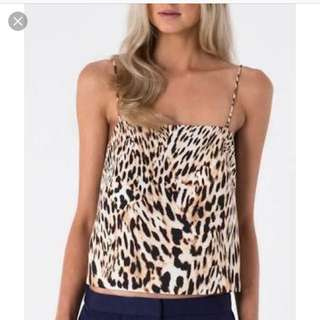 Womens Finders Keepers XS Leopard Top BNWT RRP$109