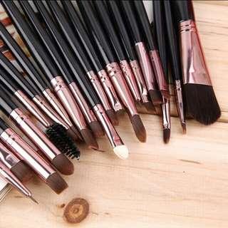 20pcs makeup nylon brushes