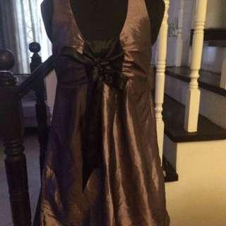 People R People Semi-Formal Metallic Purple Dress