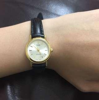 Casio真皮帶防水錶(日本製)