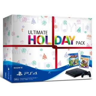 PlayStation 4 Slim 500GB Console Ultimate Holiday Bundle