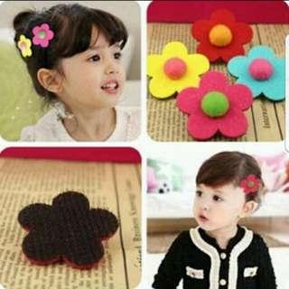 Children Flower Hair Velcro