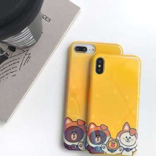PO(201) Line Brown Bear Cony Rabbit Sally Chick Yellow iPhone Phone Case
