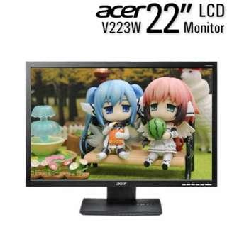 二手出清 ACER V223W 22吋led液晶螢幕