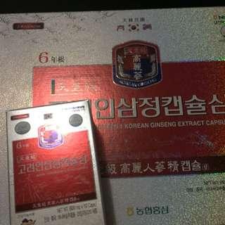 韓國6年根高麗太極人蔘精