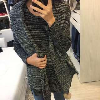 🚚 全新 韓版二件式 長版毛衣+圍巾組