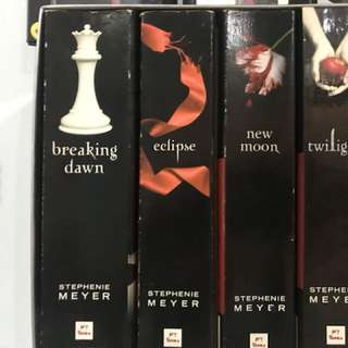 Twilight Books set  (with foxing stains)