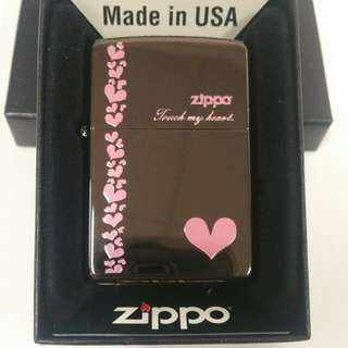 Valentine's Day Special Design- High Polish TOUCH MY HEART Zippo Lighter