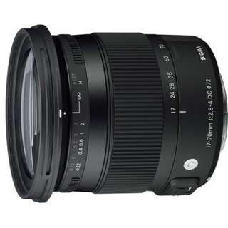 Sigma C 17-70mm F2.8-4 DC MACRO OS HSM〔Nikon版〕公司貨