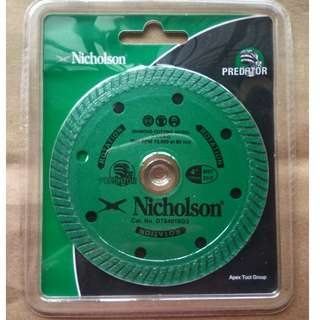 Nicholson Diamond Cutting wheel 4""