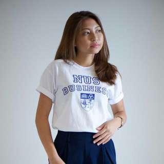NUS Business Shirt (White/Blue) Size S