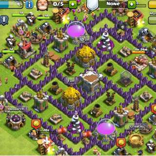 akun CLASH OF CLANS TH7 MAX UP GRADE TH8